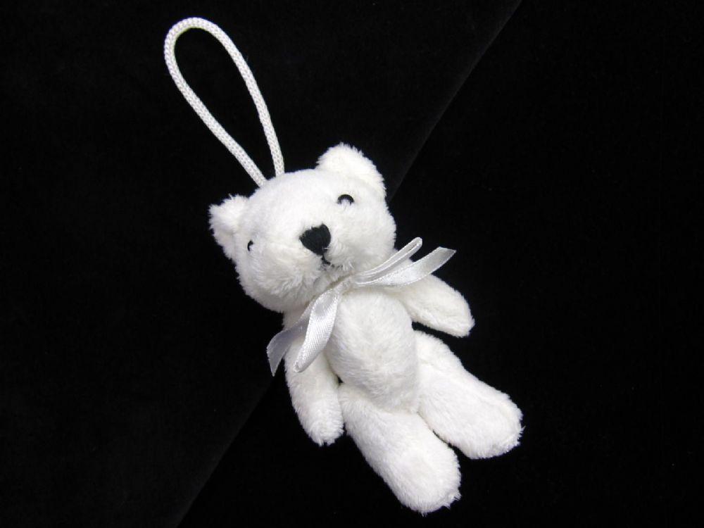 Teddy Bear Key Tassel Ted On A Rope Small Soft Toy